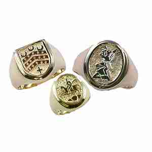 coat of arms rings for men and women