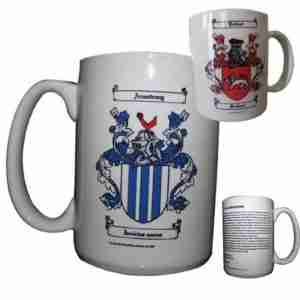 Coffee Mugs with Family Crest