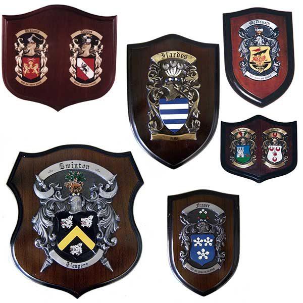 family crest plaque