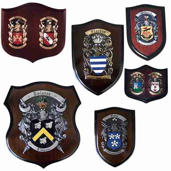 Family Crest Plaque or Coat of Arms Shields