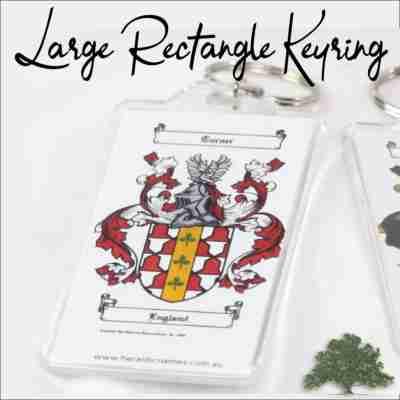 Large Rectangle Keyring