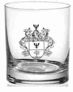 Coat of Arms Crystal Whiskey Glasses - engraved